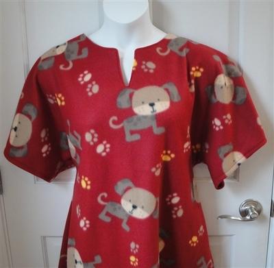 Abby FLEECE Nightgown - Rust Puppy   Fleece Gowns