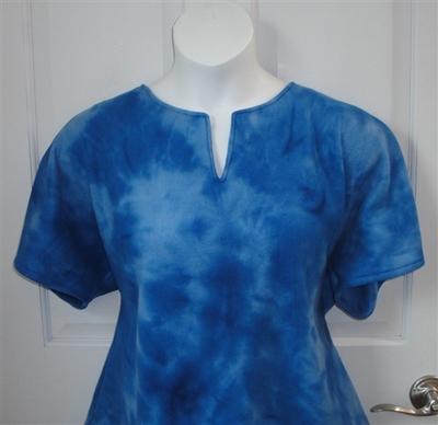 Royal Tie Dye Fleece Post Surgery Shirt - Cathy