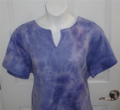 Lilac Tie Dye Fleece Post Surgery Shirt - Cathy