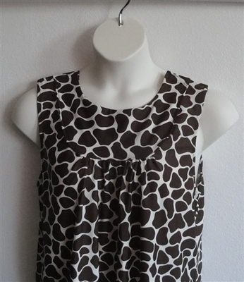 Debbie Shirt - Brown Giraffe | Sleeveless Shirts