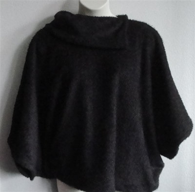 Mocha Brown Fleece Side Opening Post Surgery Sweater