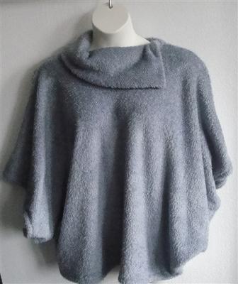 Emily Side Opening Sweater - Steele Gray Chenille Fleece | Sweaters