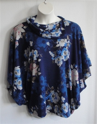 Emily Side Opening Sweater - Navy/Cream Floral | Sweaters