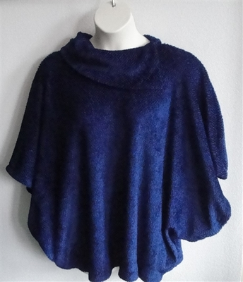 Blue Jewel Side Opening Post Surgery Sweater - Emily
