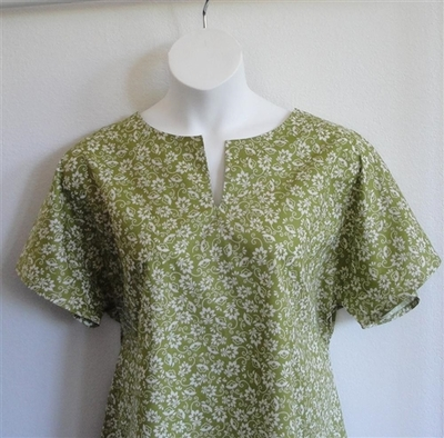 Gracie Shirt - Olive Green Floral | Woven Fabrics