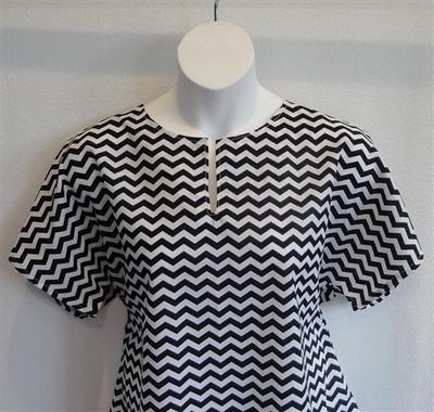 Gracie Shirt - Black Chevron | Woven Fabrics