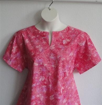 Gracie Shirt - Pink/Peach Butterfly | Woven Fabrics