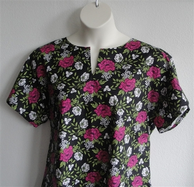 Gracie Shirt - Pink/Black Floral | Woven Fabrics