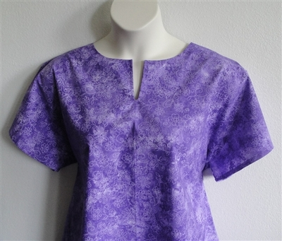 Gracie Shirt - Purple Wash Butterfly | Woven Fabrics