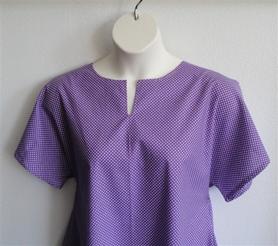 Gracie Shirt - Purple Small Dot | Woven Fabrics