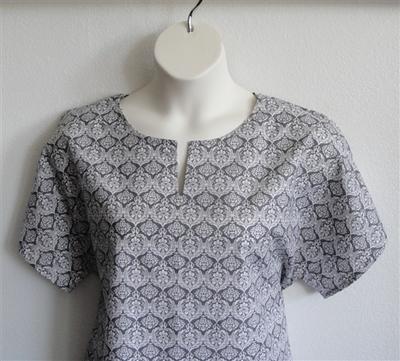 Gracie Shirt - Gray Fleur | Woven Fabrics