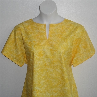 Gracie Shirt - Yellow Dragonfly | Woven Fabrics