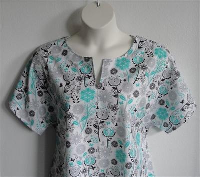 Gracie Shirt - Jade/Black Butterfly Floral | Woven Fabrics