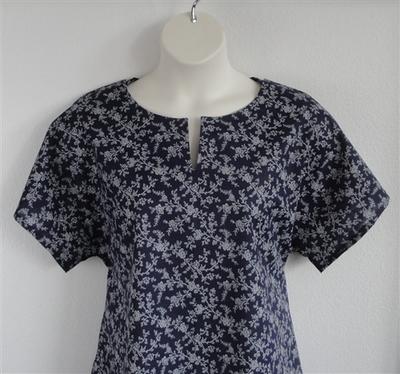 Gracie Shirt - Navy Floral Vine | Woven Fabrics