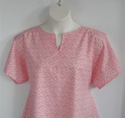 Gracie Shirt - Coral Rose Floral | Woven Fabrics