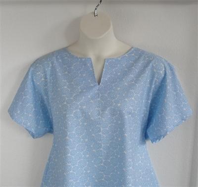 Gracie Shirt - Blue Mum Floral | Woven Fabrics