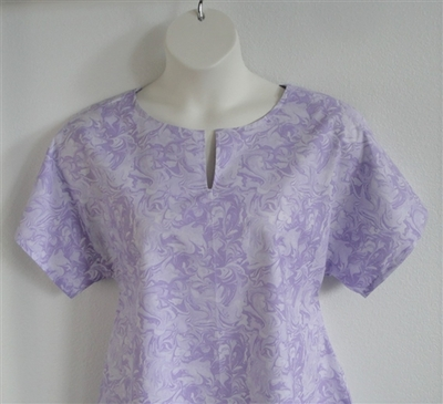 Lavender Marble Cotton Post Surgery Gracie Shirt