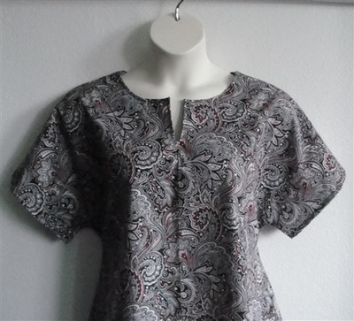 Gracie Shirt - Red/Black Paisley (S & XS only) | Woven Fabrics
