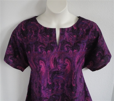 Gracie Shirt - Pink/Purple Marble   Woven Fabrics