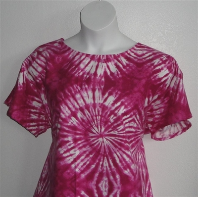 Pink Tie Dye Flannel Post Surgery Shirt - Tracie