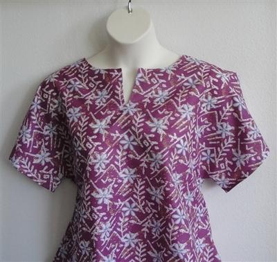 Gracie Shirt - Purple Floral Poly | Woven Fabrics