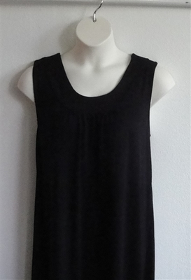 Heidi Nightgown - Black Rayon Knit (S & M Only) | Sleeveless Gowns
