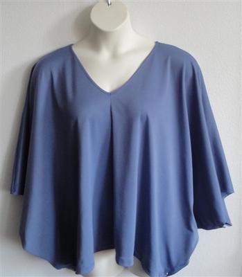 Kiley Side Opening Shirt - Denim Blue Wickaway | Side Opening Shirts
