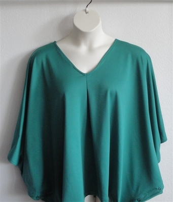 Kiley Side Opening Shirt - Emerald Teal Green Wickaway | Side Opening Shirts