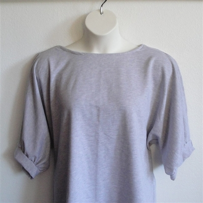 Libby Shirt - Light Gray Sweatshirt | 3/4 Sleeve Shirts