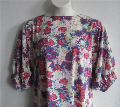 Libby Shirt - Pastel Floral Ponte   3/4 Sleeve Shirts