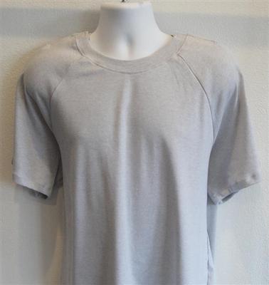 Unisex/Men Post Surgery Shirt - Light Gray