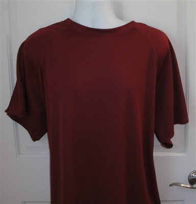 Unisex/Men Post Surgery Shirt - Burgundy Wickaway