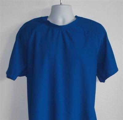 Unisex/Men Post Surgery Shirt - Royal Blue Wickaway