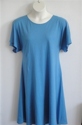 Orgetta Nightgown - Light Blue Cotton Knit | Knit Gowns