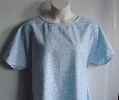 Blue Stars Flannel Adaptive Nightgown - Orgetta