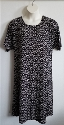 Orgetta Nightgown - Black/White Floral Rayon Knit | Knit Gowns