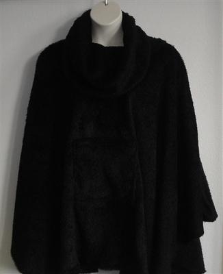 Riley Cape/Poncho - Mocha Brown - Chenille Fleece Sweater | Outerwear/Capes