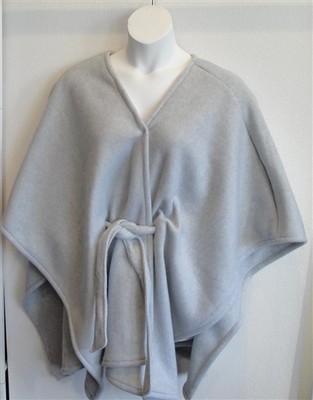 Shandra FLEECE Cape - Light Gray | Outerwear