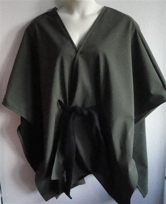 Shandra Soft Shell Fleece Cape - Olive/Black | Outerwear/Capes