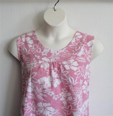 Sara Shirt - Pink Tropical French Terry | Cotton/Rayon Blend