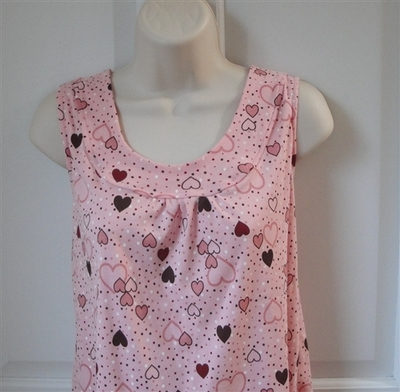 Sara Shirt - Pink Heart/Dot Cotton Knit | Cotton/Rayon Blend