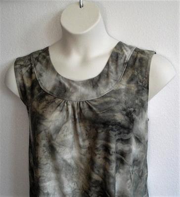 Sara Shirt - Olive Batik Poly Knit | Polyester Blends/ Other