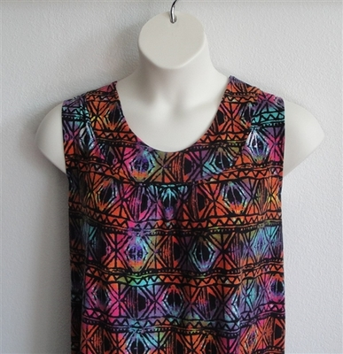 Sara Shirt - Rainbow Aztec Rayon Knit | Cotton / Rayon