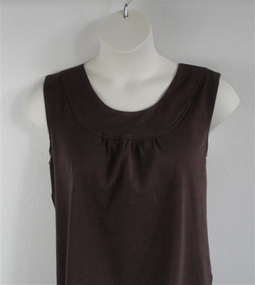 Brown Cotton Post Surgery Shirt - Sara