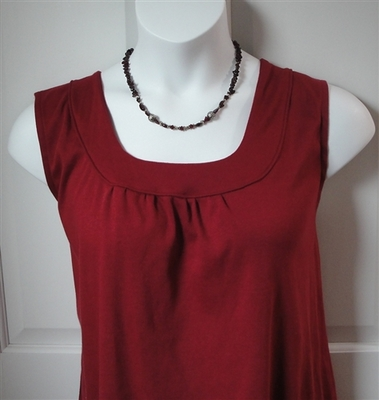 Sara Shirt - Burgundy Cotton Knit | Cotton/Rayon Blend