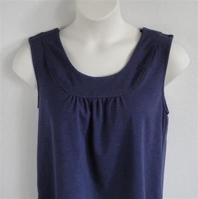 Denim Navy Cotton Post Surgery Shirt - Sara