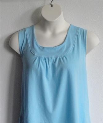 Light Blue Cotton Post Surgery Shirt - Sara