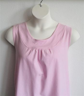 Sara Shirt - Light Pink Cotton Knit | Cotton/Rayon Blend