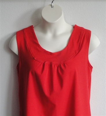 Sara Shirt - Red Cotton Knit | Cotton/Rayon Blend
