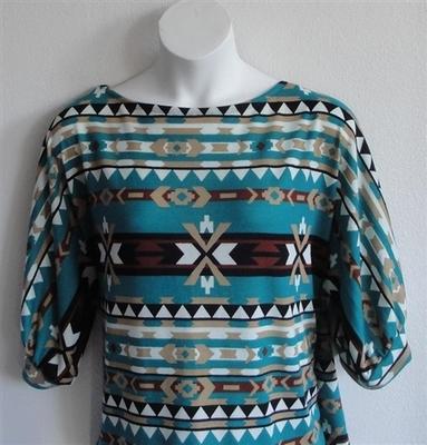Jan Sweater - Jade Aztec Sweater Knit | Sweaters
